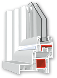 Coupe menuiserie PVC - Pose en Neuf